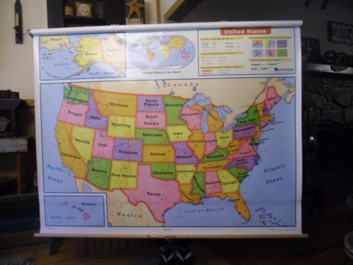 Vintage school map ebay gumiabroncs Choice Image