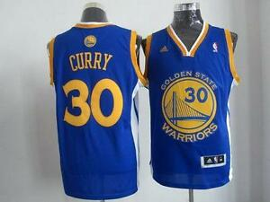 Stephen Curry Blue Revolution 30 Stitched NBA Jersey Size Large