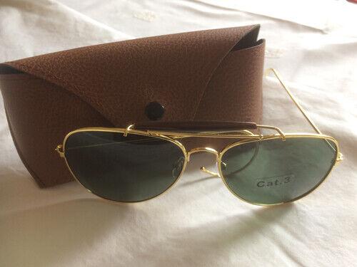 New! US WWII WW2  Aviator style Sun glasses. Green lense - Great gift idea