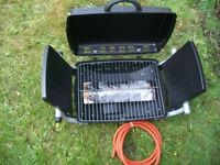 Folding Gas Barbecue Combo BBQ Portable Picnic Table Top Stove
