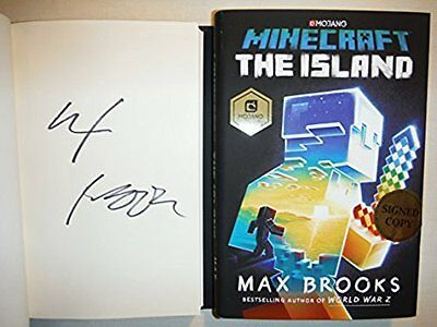 Signed 1St Print Ed    Minecraft   The Island   Autographed By Max Brooks New
