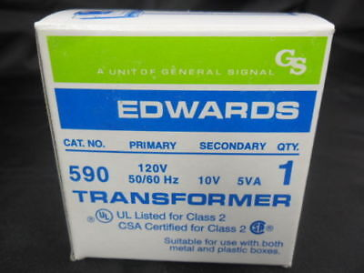 New Edwards 590 Transformer 10v 5va Load 120v Line Nib