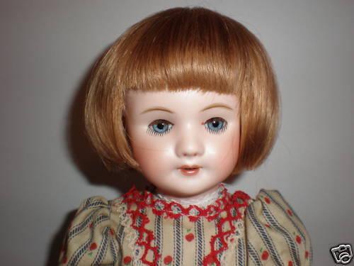 PERRUQUE LUC T1 (18cm) en cheveux naturels pour POUPEE ANCIENNE -DOLL WIG