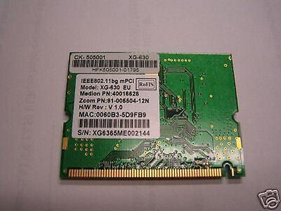 WIFI mini PCI CARD 802.11 for notebook/ portable XG-630