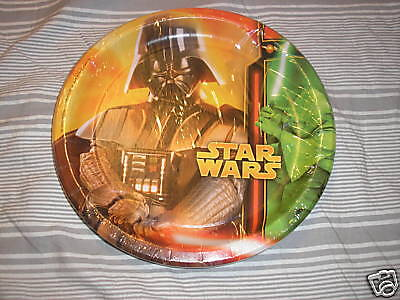 New Star Wars Paper Plates Party Supplies 8 3/4 in Dia - Star Wars Paper Plates