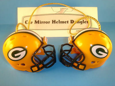 GREEN BAY PACKERS CAR MIRROR NFL FOOTBALL HELMET DANGLER - HANG FROM ANYTHING!
