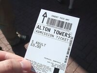 2 x Alton Towers tickets - Any Date until 31/10/2017
