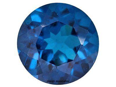 NEON APATITE NATURAL 2.50  MM ROUND CUT  BLUE OUTSTANDING NEON COLOR 2 PCS