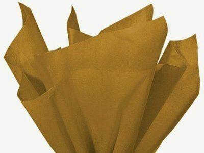 """ANTIQUE GOLD Bulk Tissue Paper 15"""" x 20"""" - 100 Sheets"""