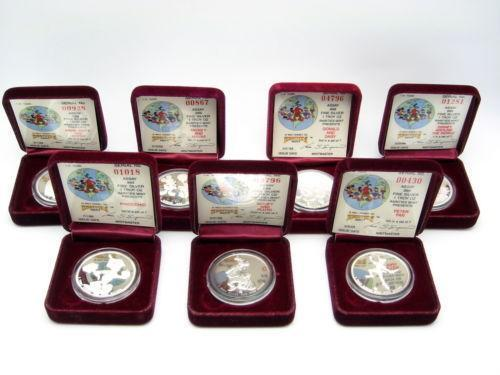 Disney Silver Coin Set Ebay