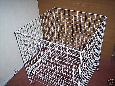 "24"" Square Wire Shopping Dump Basket White"