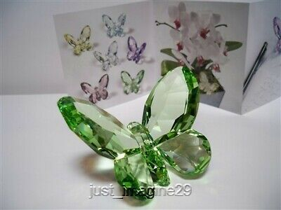 SWAROVSKI CRYSTAL BUTTERFLY LIGHT PERIDOT 855773 RETIRED BNIB COA (Swarovski Crystal Butterfly Light)