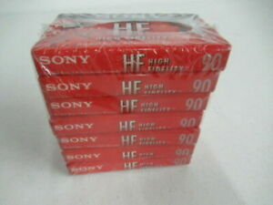 Sony HF Normal Bias 90 Min. Cassette Tape - NEW x7 plus bonus of