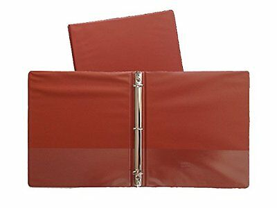 Burnt Orange Standard 3-ring Binders 1-inch For 8.5 X 11 Sheets 3 Pack