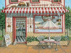 Cobble Hill Hamburger Haven Jigsaw Puzzle ..like NEW..500 pieces