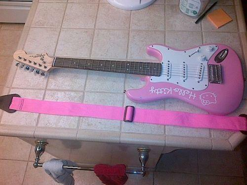 squier hello kitty electric ebay. Black Bedroom Furniture Sets. Home Design Ideas