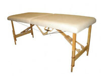 Massage table fold up lightweight white for sale w2