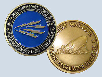 Submarine Rate It Information Systems Technician Insignia Commemorative Coin