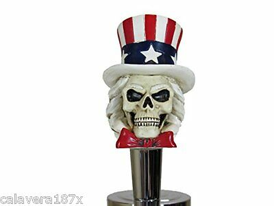 Tap Handle Uncle Sam USA Patriot Skull Head Beer Sports Bar Brew Keg Party Ale (Uncle Sam Party)