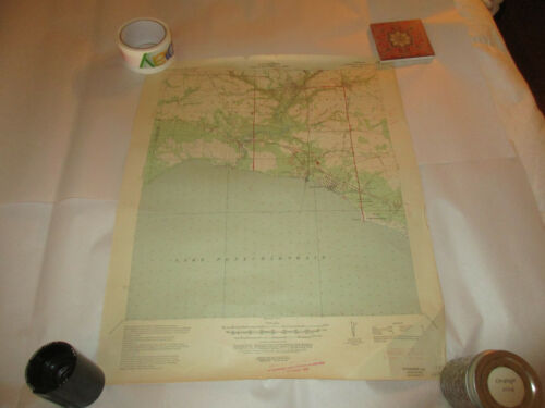 1939 Ed Map Covington La Dept Interior War Department Corps Engineers US Army
