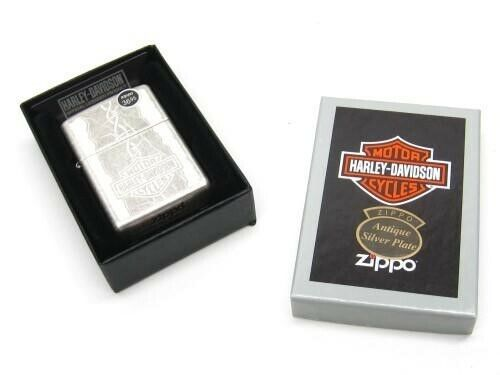 Zippo 29560 Full Size Antique Silver Harley Davidson Classis Windproof Lighter