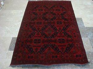 Afghan Khal Muhamadi Rectangle Area Rug Wool Hand Knotted Carpet 6' x 4'