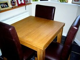Oak Dining Table/Chairs (NEXT)
