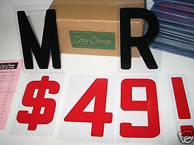 6 On 6 78 Plastic Flexible Letters - Block Style Font For Marquee Signs