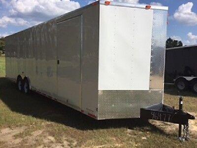 New 8.5 X 28 Enclosed Cargo Trailer Mobile Storage Building