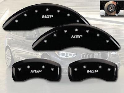 "2008-2019 BMW X6 xDrive50i Front + Rear Black ""MGP"" Brake Disc Caliper Covers"