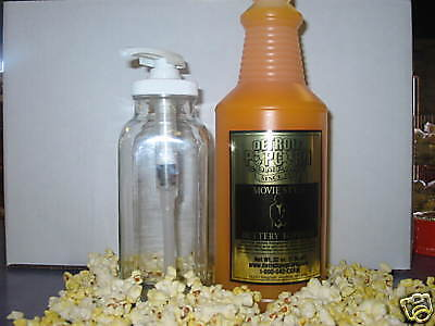 Movie Style Buttery Popcorn Topping Butter Quart W Pump