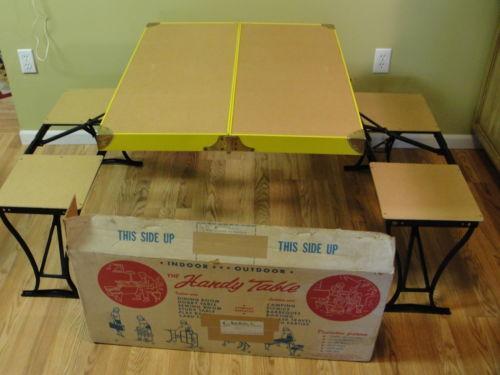 Vintage Camping Table Ebay