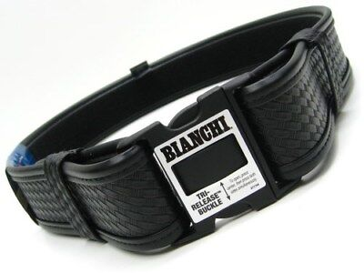 "BIANCHI Large 40""-46"" Waist Black 7950 Basketweave ACCUMOLD ELITE Duty Belt!"