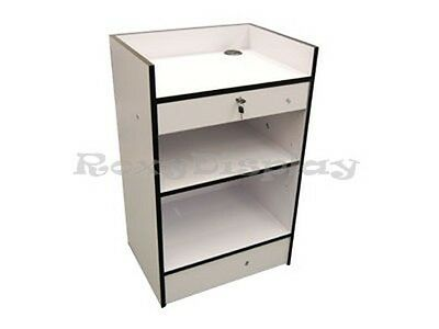 White Cash Register Stand Display Store Fixture Knocked Down Scr-cw