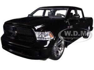 2014 DODGE RAM 1500 CUSTOM EDITION BLACK 1/24 DIECAST MODEL CAR BY JADA 54040