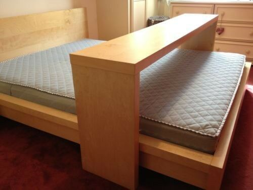 Ikea Malm Overbed Table Available Now On Castors For Double Or