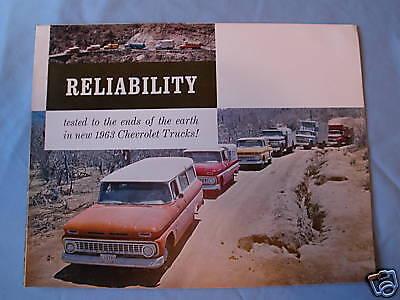 1963 Chevrolet Truck full line showroom sales brochure great color
