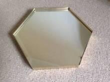 Gold hexagon metal Maya Mirror Engadine Sutherland Area Preview