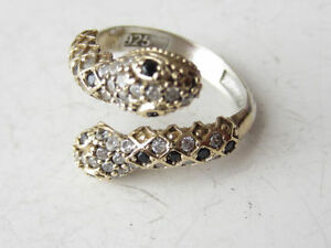 Solid 925 Sterling Silver Snake Rings Adjustable Size 5-10 Cambridge Kitchener Area image 4