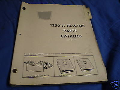 Oliver 1250-a Tractor Parts Catalog