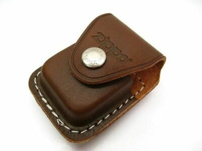 Leather Lighter Pouch W/clip, Brown