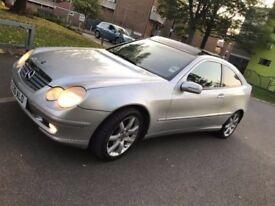 Mercedes Benz C220 CDI Sports Coupe 6 speed -PX -SWAP + £££- FSH - Sat Nav- Pan Roof- Auto 4 door