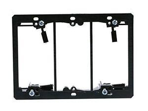Monoprice 107015 Low Voltage 3-Gang Mounting Bracket (Discontinu