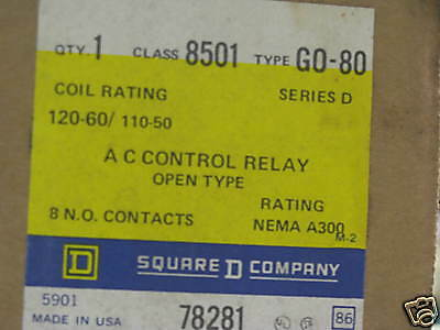 8501GO-80   SQUARE D   AC CONTROL RELAY