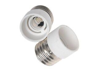 2x E27 auf E14 Lampensockel Adapter LED Lampen Fassung Sockel Adaptersockel