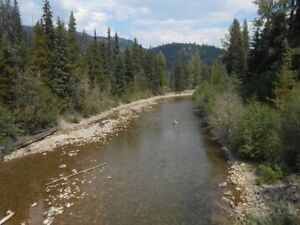 Placer gold claim on Similkameen river by Eastgate.