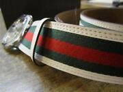 White Gucci Belt