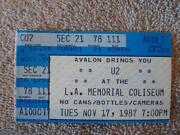 U2 Ticket Stub