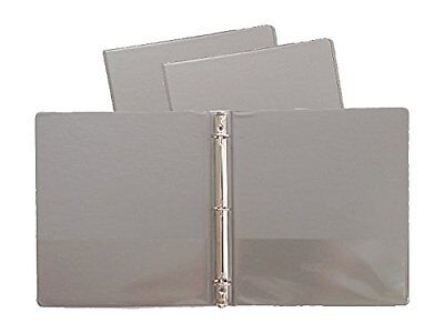 Gray Vinyl Standard 3-ring Binders 1-inch For 8.5 X 11 Sheets Pack Of 12