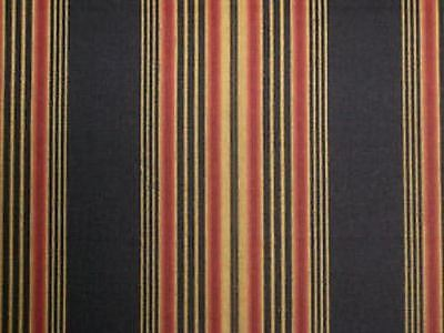 (Waverly SWEETWATER STRIPE ONYX Black Home Decor Drapery Upholstery Fabric BTY)